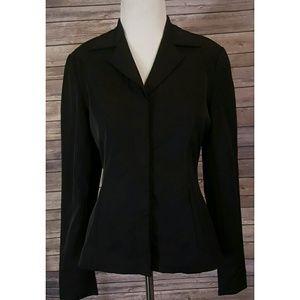 Tristan & Iseut Black Nylon Magnet Front Jacket